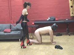 Sklaven domina fesselt Domina fesselt